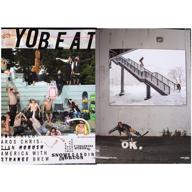 The first ever print issue of @yobeat just dropped. We have been waiting for this one. If you can get your hands on it you will see we are so stoked to have our first inside back cover for @rakejose421 ad. Jake had his way with this rail on the...
