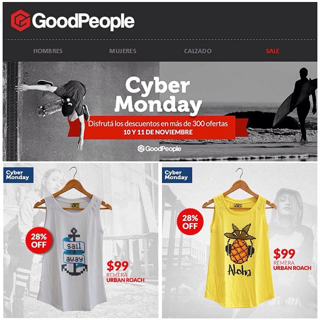 Hoy y mañana #cybermonday junto a @goodpeoplearg