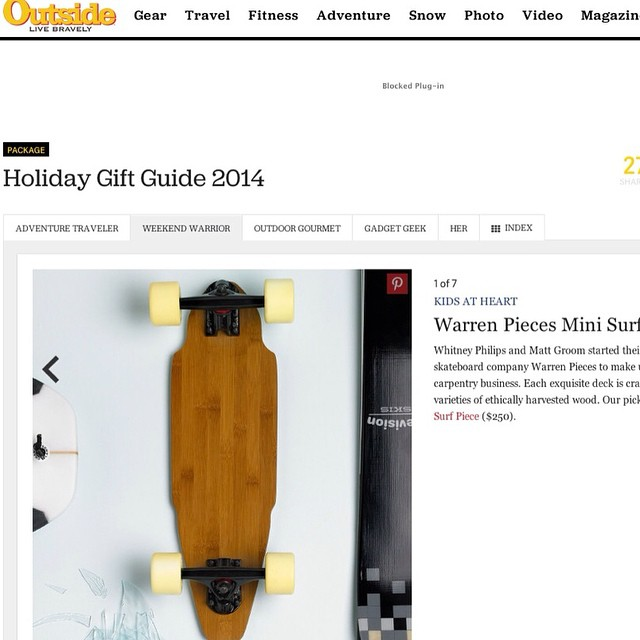 @outsidemagazine included us in their 2014 holiday gift guide.