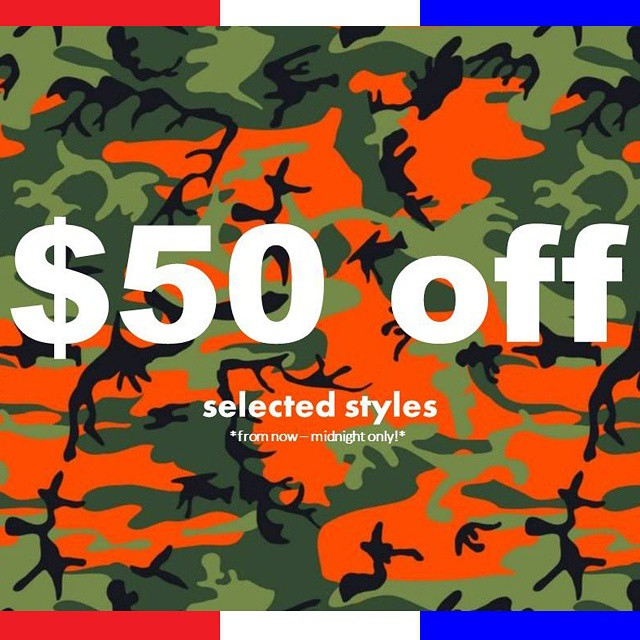 Happy Veterans Day! Get $50 off selected camo styles from now until midnight only! Get them here: http://bit.ly/WBVetDay