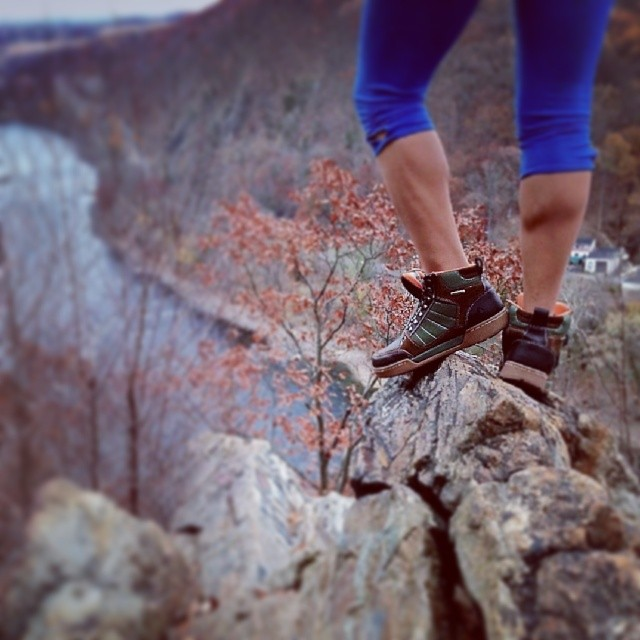 Our friend Annie proving that chicks can rock the Hikers too! #Forsake