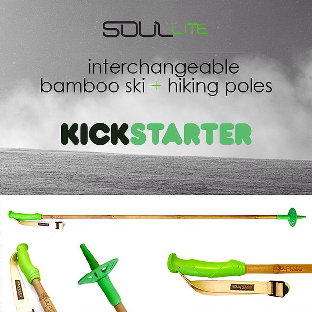 The #SoulLite project is LIVE!  Pledge to support our new ski + hiking poles on @kickstarter and receive early bird pricing! -> link in bio | #qualityshafts