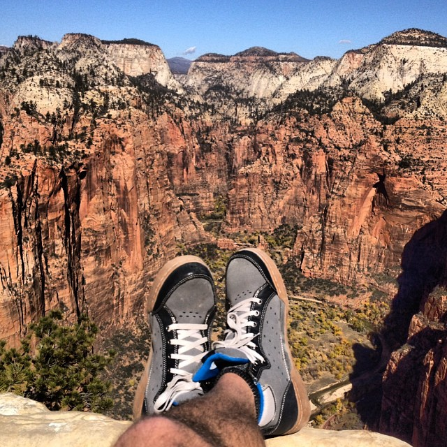 Not a bad place to put your feet up. #zion #nationalpark