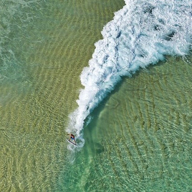 This is one of the coolest shots we've ever seen @aquabumps !! #SurfPhoto #Perspective #Air #Aerial