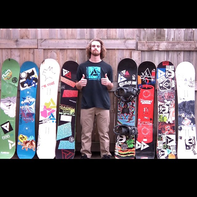 A true #AFL member, Zak Peterson is showing off 8 year collection of Academy. Tag your old Academy stick and you can win a free deck!! Tag your photo with #academyforlife! #academykidsrule #goodpeople #greatsnowboards #supportlocal #minnesota @calsurf