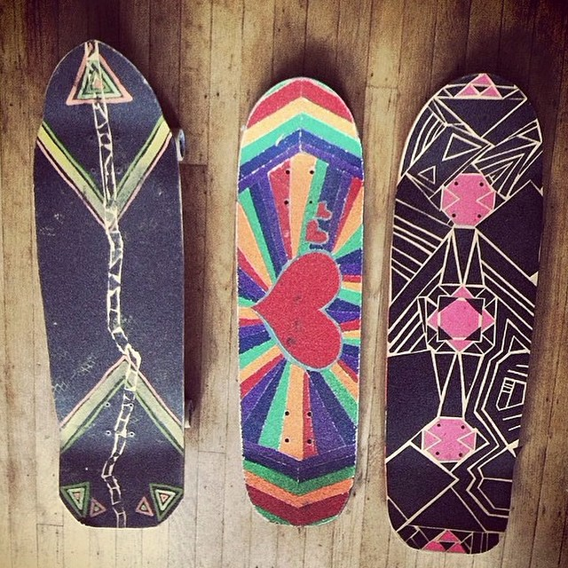 This is a story of skateboard. Concaves were tested, shapes tried and next week you will see the final skateboard that was shaped and created by Team rider Yvonne Byers--@yvonzing.  The shape on the left is most similar to the skateboard we are...