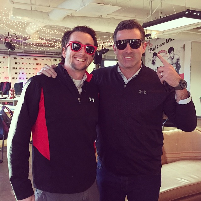 CEOs from @waveborn and @underarmour rocking 1/4 zips and fresh sunglasses #waveborn #findthesun #iwill #partnerships #maryland