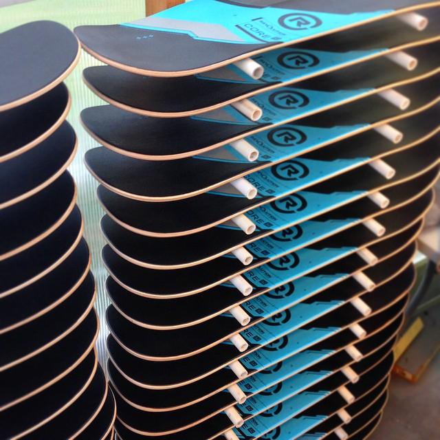 A few more Core 32 decks in progress. #balanceboard #madeintheusa