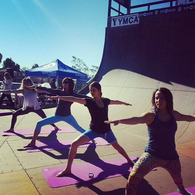The yoga clinics at #exposure2014 were a great way to warm up for a full day of shredding! Thank you @sambazon  @mandukayoga @yogaforskateboarders @yogabodyoceanside @huntahlong @ameliabrodka #namaskate
