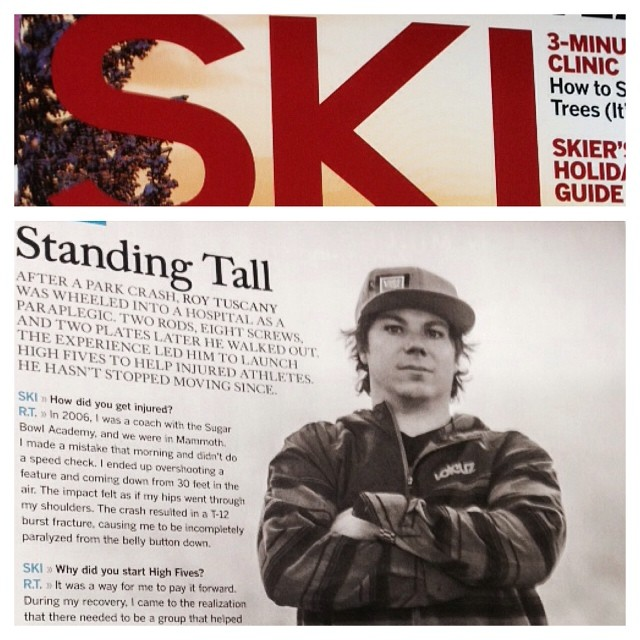 "Check it out and find it at @savethebookshelf530 | December Ski Magazine | ""Standing Tall"""