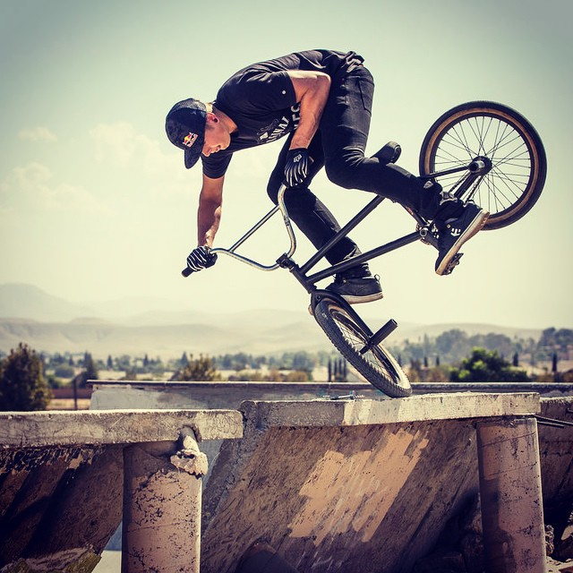 Don't try this at home. But if you do, send us a pic. @jadenleeming #makinit #bmx