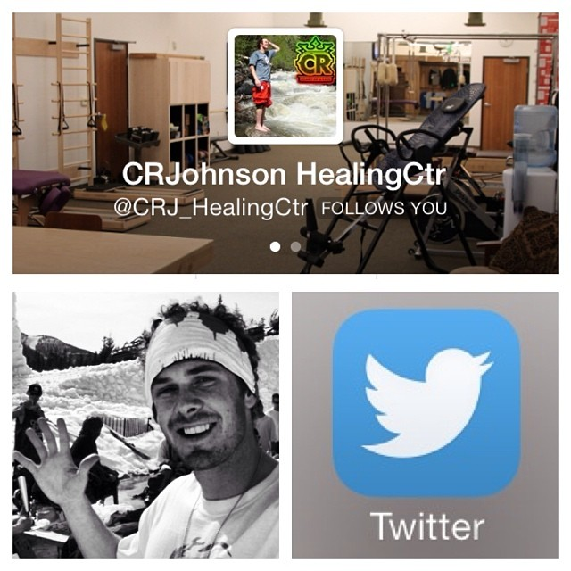 Follow @crj_healingctr to keep up with all the great stuff happening on #Instagram and #Twitter