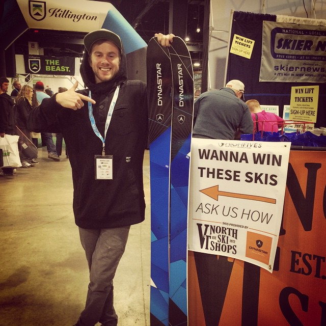 Wanna win these skis from #dynastarSKIS and @vtnorthskishop | Find us at the Boston Ski Show at booth #113 to find out how