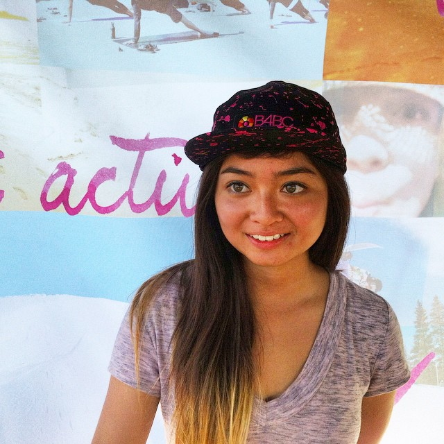 Team B4BC skater @allyshabergado stopped by our booth last weekend at @ExposureSkate to snag one of the new B4BC x @neweracap paint splatter hats! Grab yours online at www.b4bc.org/shop and check out the rest of our rad cobranded gear! #Exposure2014...