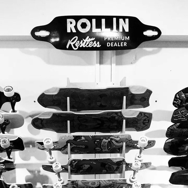 Our little gift to #rollinboardshop in #montreal .