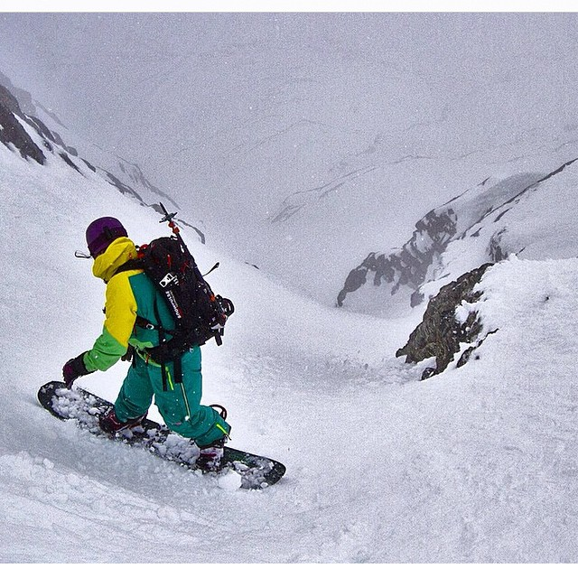 This from a few weeks ago, mid winter in New Zealand. As we head into our own mid winter here in the northern hemisphere, we have this and more to look forward to. It's like being young in life. @allisonlightcap is dropping into the #Grandcouloir off...