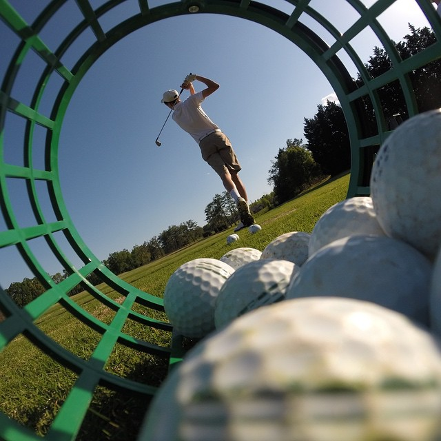 Photo of the Day! Just another day on the range. Photo by @wkburch. #GoProGolf