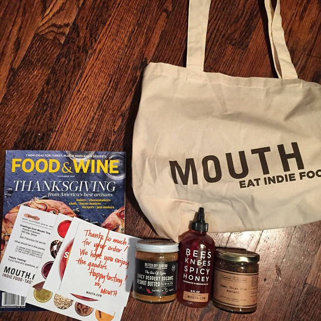 New favorite #ecommerce website @mouthfoods love all their #indie food products -- plus I received a free tote & @foodandwine mag with my order of @anarchyinajar umami shiso mustard @beeskneesspicy honey @betteroffspread Szechuan Peanut Butter #win...