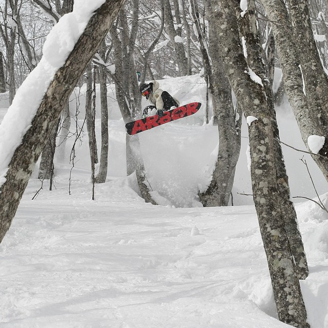 Who's ready for some powder turns? @scottyvine in Japan ripping the best powder on the planet.