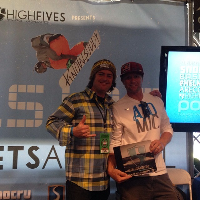 Be like @daronrahlves and stop by the @hi5sfoundation booth at AT&T park | #snowbomb Ski&Snowboard Festival