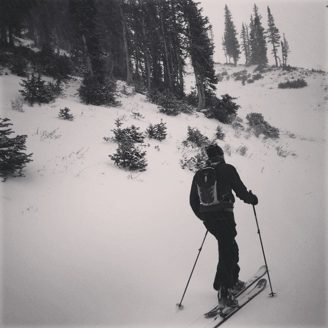 Product testing tour @altaskiarea on a snowy Friday evening. #dpsskis #winter #ski