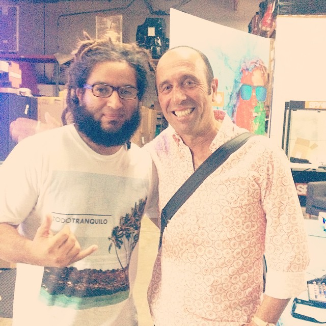 Todo Tranquilo's founder and creative director meeting Fernando Aguerre today. The founder of Reef, and president of the International Surfing Association. What an honor! #legend #isa #surf #thearts #yerbamate #goodvibes #livewithpassion @fernandoaguerre
