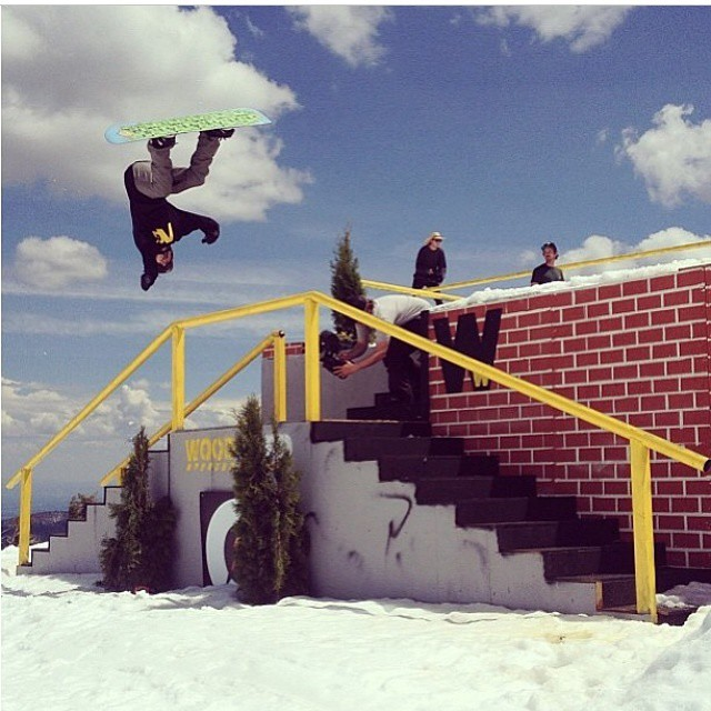 Its the weekend go snowboarding @jedipauls likes to send it Photo by @sammy_spits  #followjedipauls
