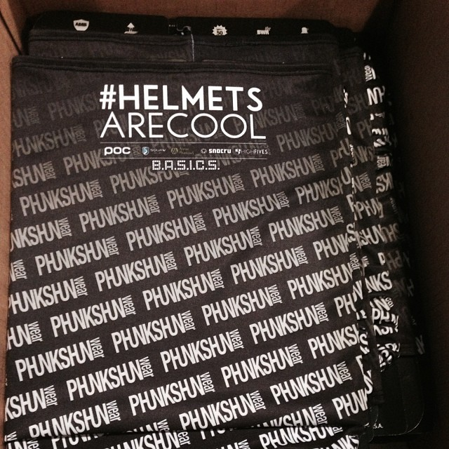 Come get one of these @phunkshunwear / @hi5sfoundation facemasks | $20 Donation | @snowbomb SF Ski and Snowboard Show