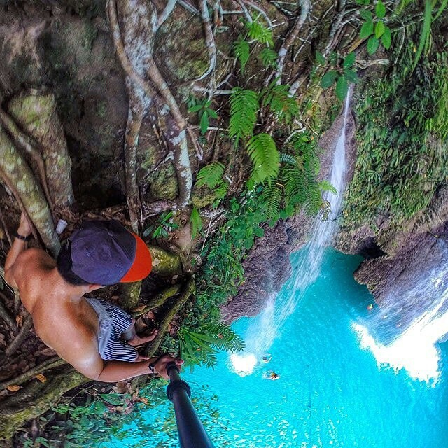 #ThisIsMyBeach | Would you jump? Great pic by @ninjarod #EpicTravelSpots #Kameleonz #LifesABeach #GoPro #GoProOfTheDay #HERO4 #GoPole #Travel #Traveling #Cebu #Philippines #Waterfall #Saturday #Weekend #Mabuhay #Maganda
