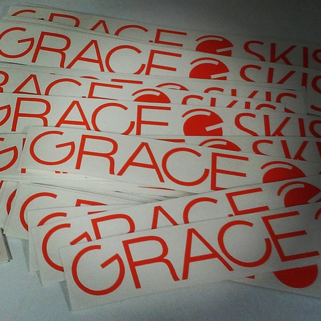 We got Grace stickers!  Who wants them? Send a SASE to Grace.  Learn more http://bit.ly/gracestickers/ #orangehot #vinyl #diecut