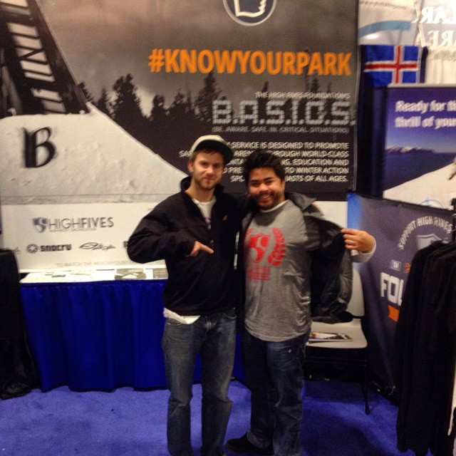 Showing us some love at the Boston Ski & Snowboard Expo! Thanks @sneakypete!