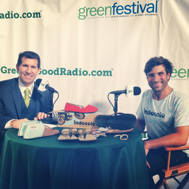 Day 2 @greenfestival San Francisco. Thankful to link up with the #greenisgoodradio show and tell our story. Airing soon... #soleswithsoul #greenfest