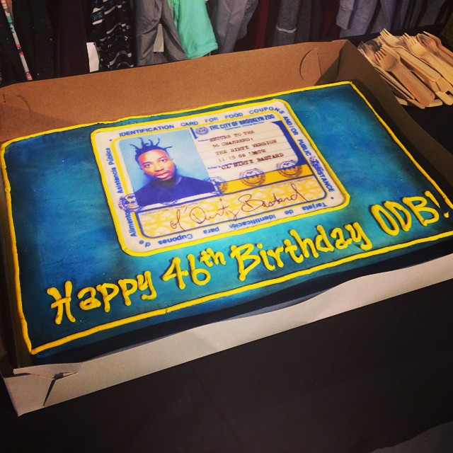 We have a party tonight. So we though we'd order a #birthdaycake. #happybirthday #odb #boombotix #wutang