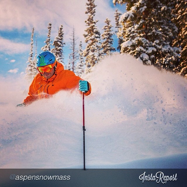 Surf's Up in @aspensnowmass this past weekend with DPS' @grskier. Photo by @jswansonphoto. Looking deep there boys! #dpsskis #lotus120spoon.