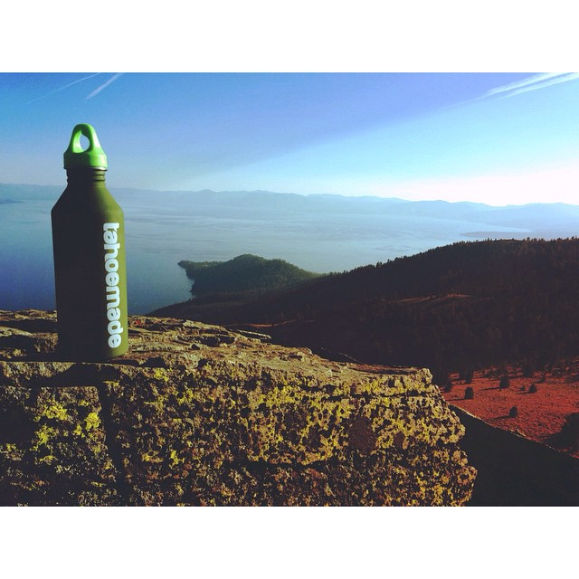 Shun plastic water bottles. @mizulife #tahoemade #mizulife