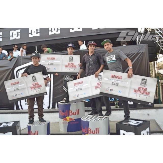 Felicitaciones Chinito!! @sandromoral 2do puesto en la categoría profesional de DC Invitacional corrido en Perú. #Volcom #Skate #TruetoThis #SandroMoral