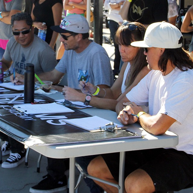 Can't go wrong with this judging crew - Adrian Demain, Mike McGill, Jean Rusen and Aaron Astorga. #EXPOSURE2014