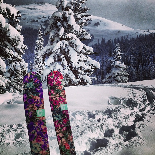 Great first day at #coppermountain  these new 177cm Trigger II's are keeping it #tropical with these frigid temps.