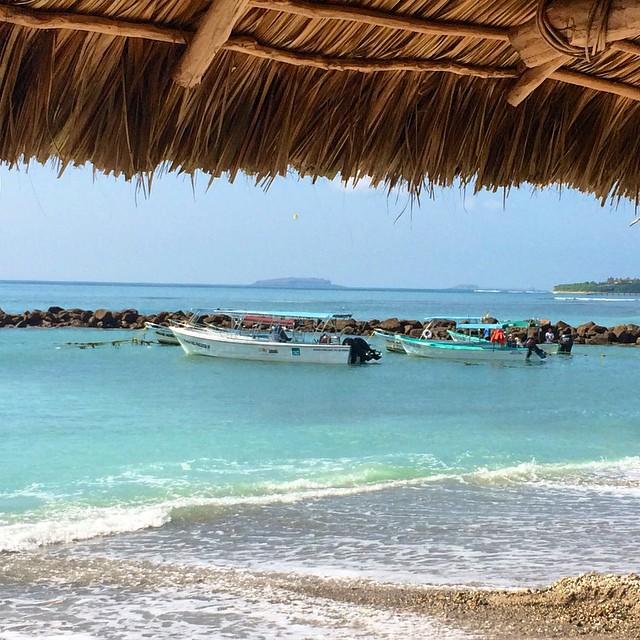 Aqua waters and a view of #marietaislands from a restaurant in Punta De Mita. #snorkelcity #epicbar @dakine #oakley #mexicovacation @joshdaiek #surfing @neversummerindustries #kirkwooddeep #livelikeliz