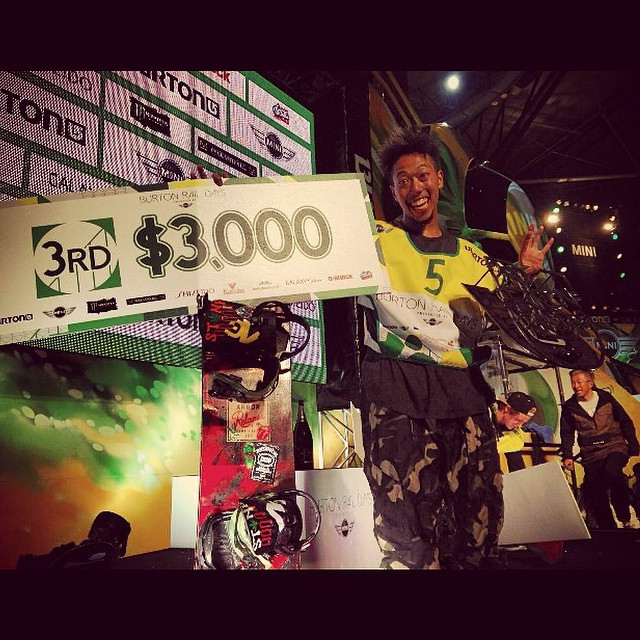 #tegrqm from @yumaabe Congratulations again to Flux rider, Yuma Abe for taking 3rd place in the Burton Rail Days competition in Tokyo, Japan. ❄️