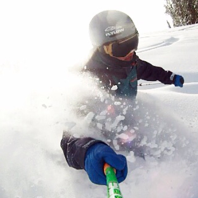 Flylow's @k3vbotnichols finding some early pow in Colorado last weekend. #embracethestorm