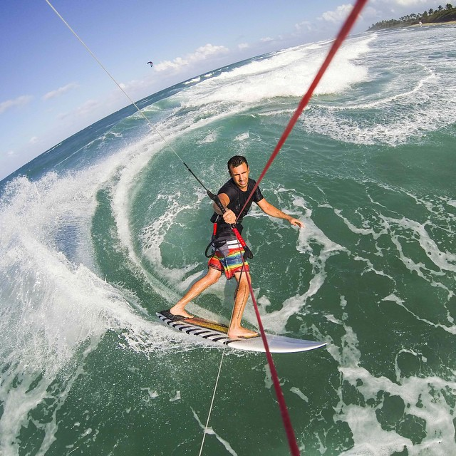 Photo of the Day! @oronkessel kite surfing his favorite beach break in the Dominican Republic.