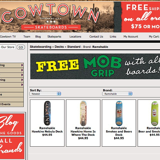 Good news AZ locals! You can now pick up your Ramshakle needs at @cowtownskate