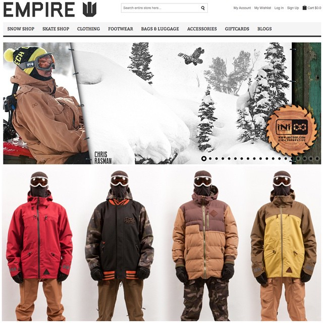 #IsYourKitComplete for the upcoming season? Head over to @thinkempire to check out our 14/15 Winter Range! #MindfullyManufactured ♻️ #WinterIsComing #Snowboard ready!