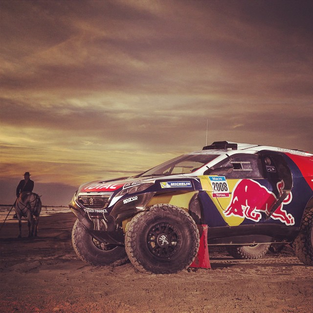 New #Dakar horsepower. Our #Dakar2015 contender, the #2008DKR.