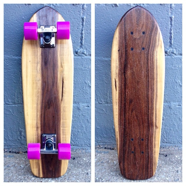 Here is a special cruiser build from a walnut tree cut in the Salemtown Neighnorhood. She's going live today.