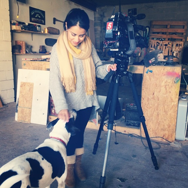 News Channel 5's @iamjenniferreyes hangin' w Piper yesterday in the STBCo. shop.