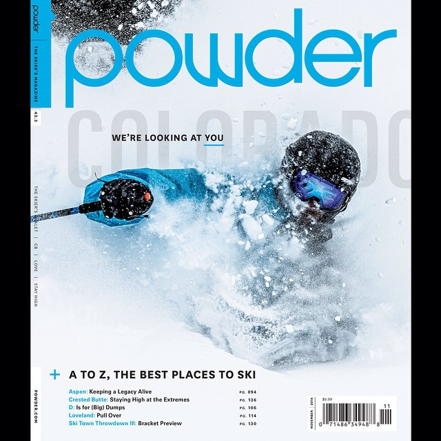 @powdermagazine is looking at Colorado this month, along with a bunch of the Flylow family. @robdickinson @sydney_dickinson @lonesomepony @dougtheskier @plumetunes