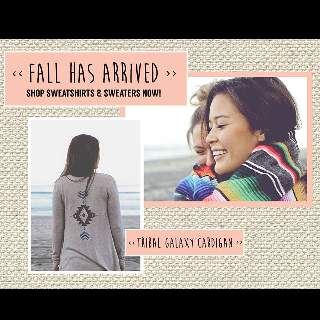 Fall weather has finally arrived in San Diego! #fall #wearthecalidream #fallfashion #fallstyles #cardigans #surf #luvsurf