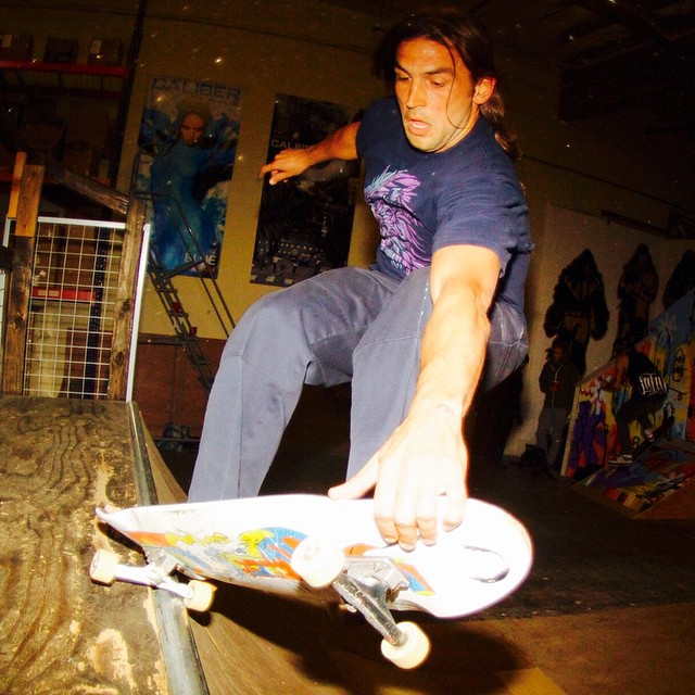 @bigdave_hsf #calibertrucks after party @scboardroom #calibergrade #skateboarding #sorryforafterpartying